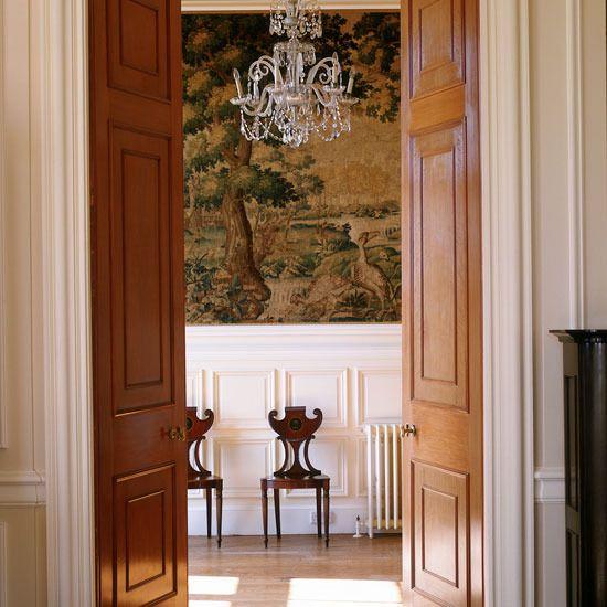 Georgian hallway i like the idea of all the rooms or for Hallway bathroom ideas
