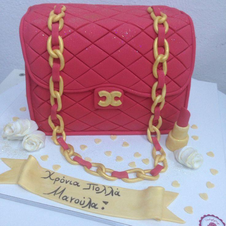 Classic Chanel red handbag  by #sketiglyka