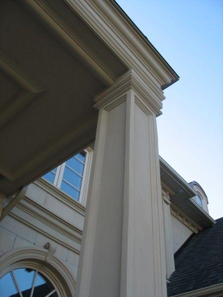 Square Stucco Column Concrete Design Stucco Exterior
