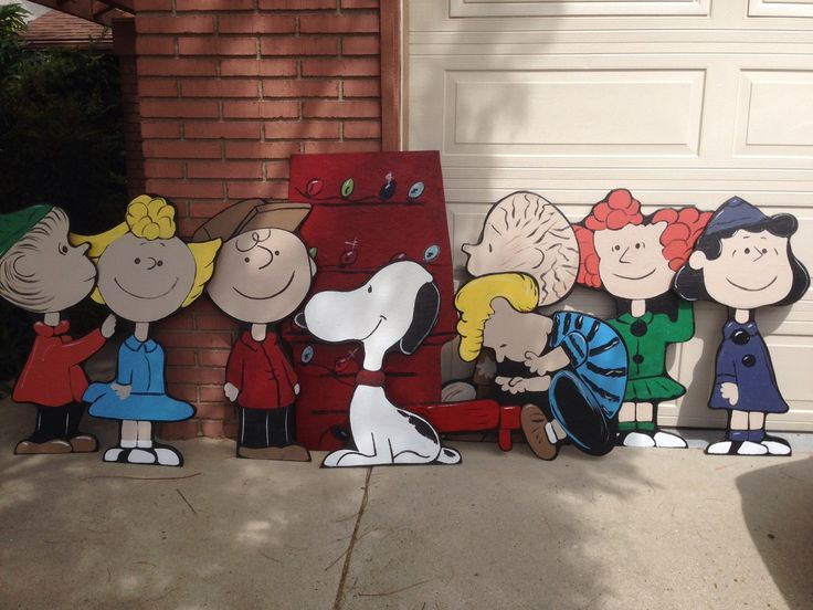 A personal favorite from my Etsy shop https://www.etsy.com/listing/229750849/charlie-brown-christmas-lawn-decorations