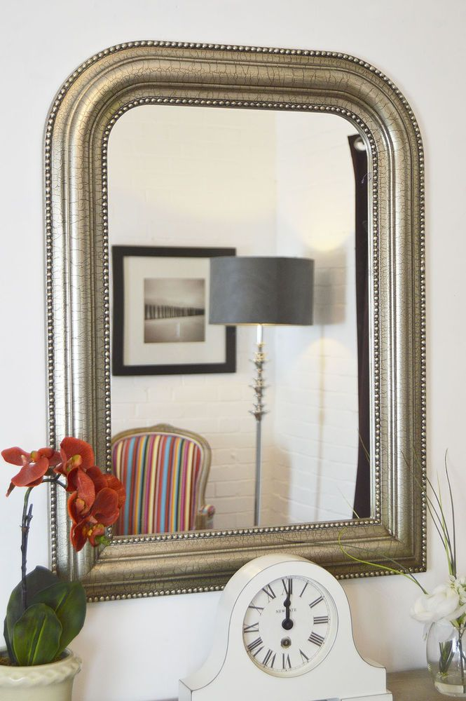 Large Silver Over Mantle Overmantle Big Wall Mirror Bargain 2Ft8 X 2Ft 80 X 60cm