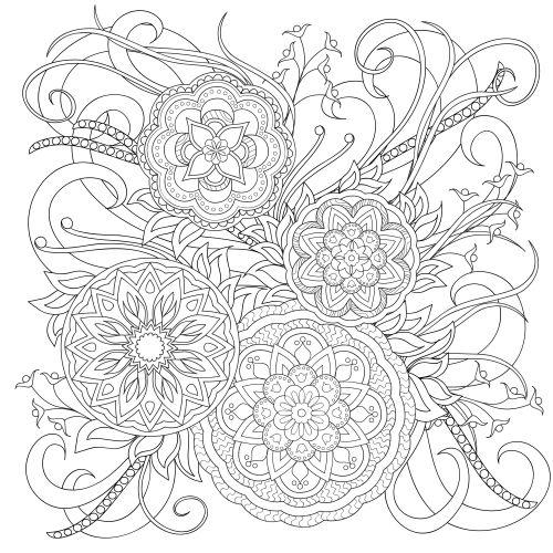 flower mandala paisley