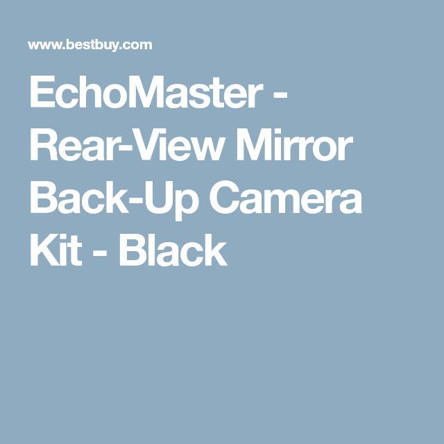 EchoMaster - Rear-View Mirror Back-Up Camera Kit - Black