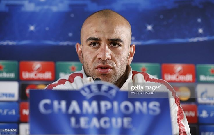 Monaco's Tunisian defender Aymen Abdennour speaks during a press conference on April 21, 2015 in Monaco, on the eve of the UEFA Champions League quarter final football match Monaco vs Juventus.