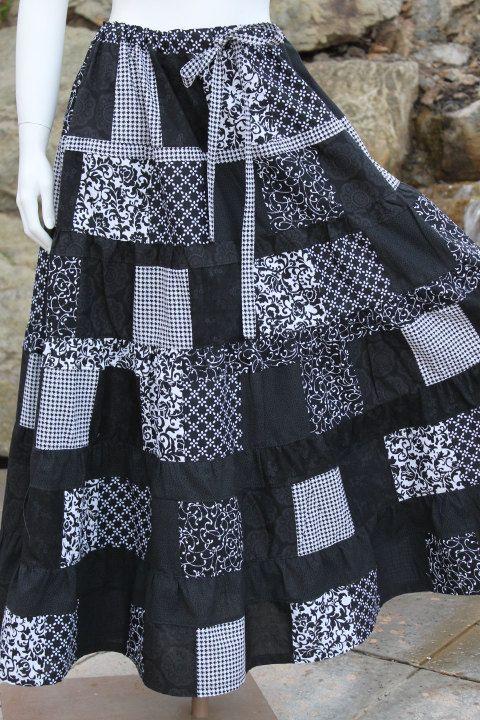Hippie Patchwork Skirt  Festival  Clothes Hippie by frans2hands