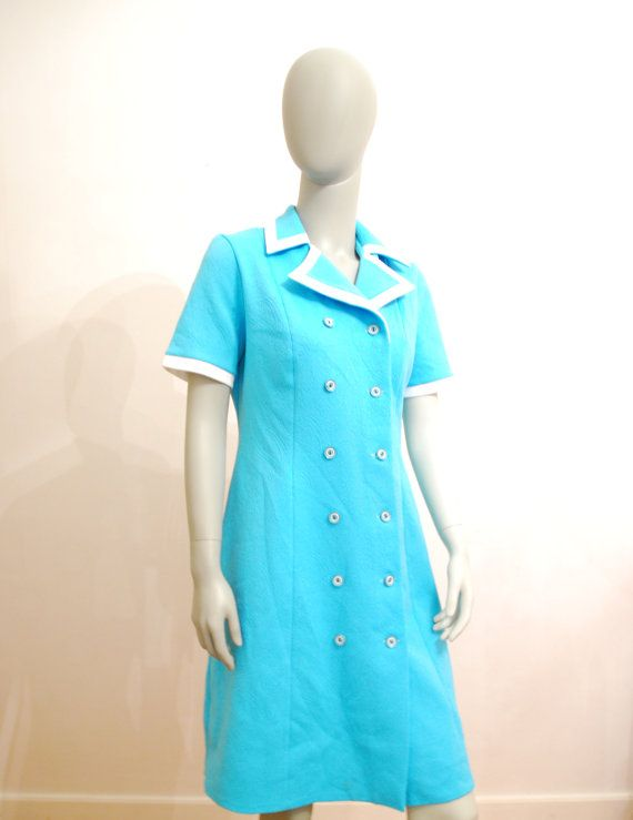 Hey, I found this really awesome Etsy listing at https://www.etsy.com/listing/258086582/blue-mod-dress-vintage-aquamarine