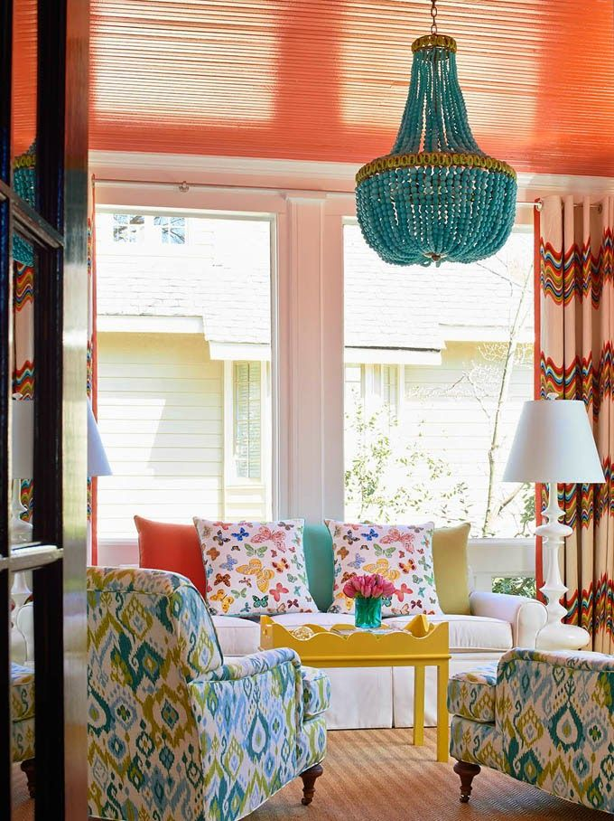 turquoise chandelier | designed by Holly Hollingsworth Phillips of The English Room