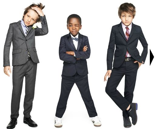 JCrew suits for boys - love these!  Especially the one on the far right, but with a bow tie instead...