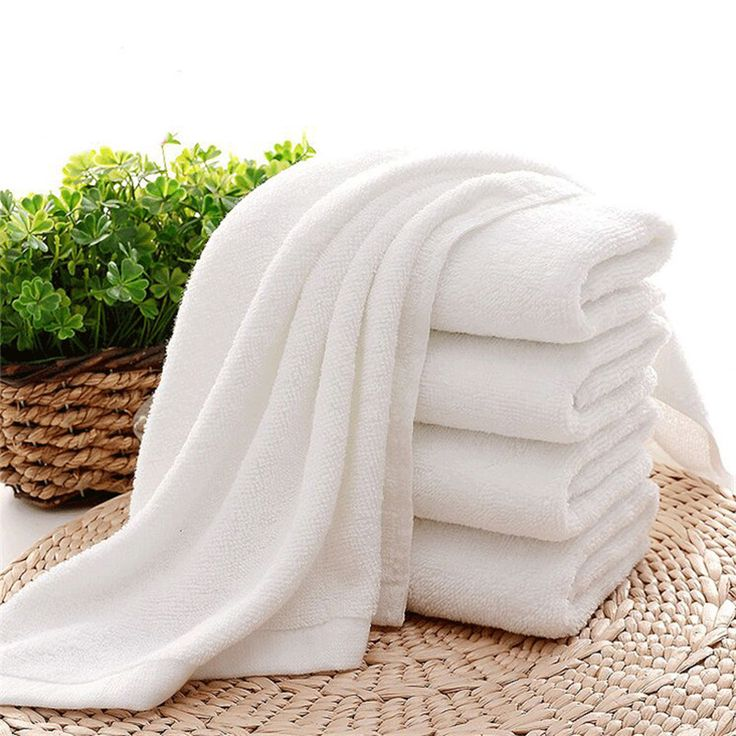 Face Hotel Towels Rectangular 100% Cotton Soft Comfortable White 5 Stars Hotel Towel For Adults And Kids High Quality Towels