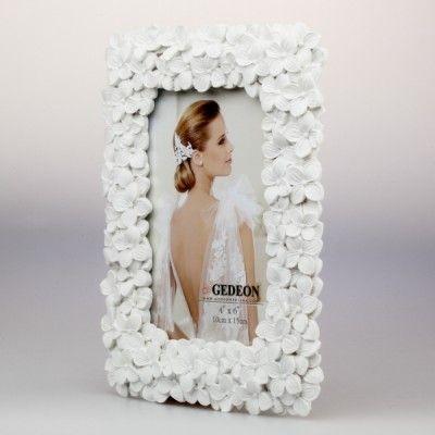 Przepiękna, romantyczna ramka gipsowa na zdjęcie 10x15 cm