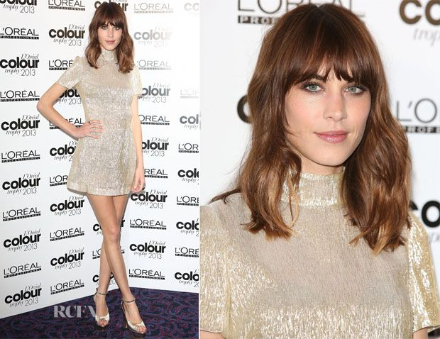 Alexa Chung In Bella Freud - LOreal Colour Trophy Awards 2013