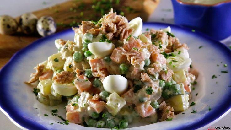 Receita de Salada russa de atum com maionese caseira. Descubra como cozinhar Salada russa de atum com maionese caseira de maneira prática e deliciosa!