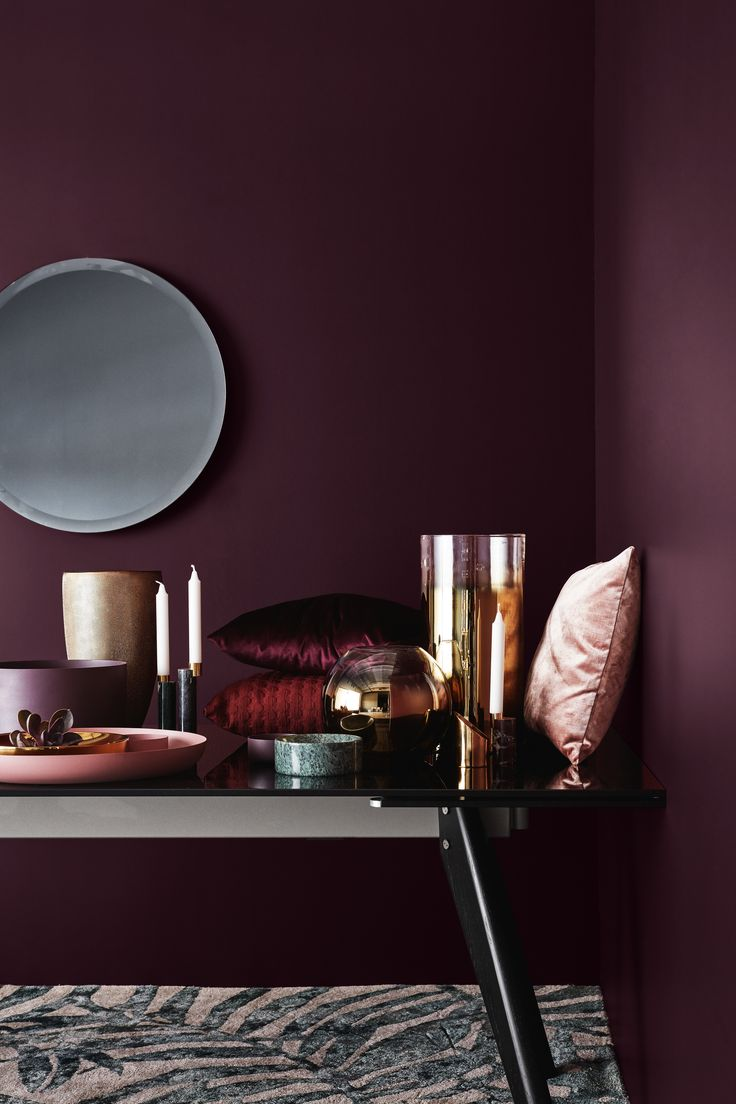 Deep Purple Wall Paint Best 25 Plum Paint Ideas On Pinterest  Plum Decor Purple Wall .
