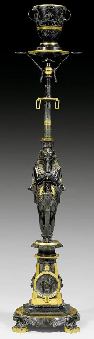 Articles - Adrian Alan A Fine Egyptian Revival Torchère, Attributed to G…