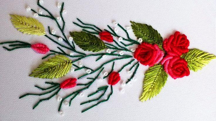 ВЫШИВКА: РОЗЫ РОКОКО  \   EMBROIDERY: ROSES ROCOCO Bullion stitch