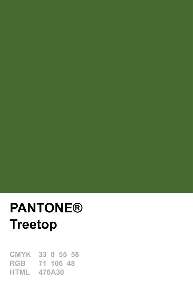 Pantone 2015 Treetop