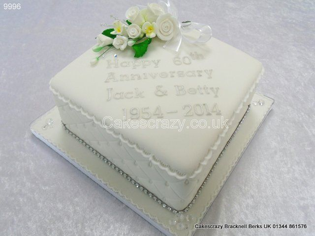 Diamond Wedding Anniversary Cake http://www.cakescrazy.co ...