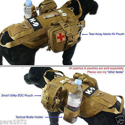 Tactical Hot Weather Mesh Cool Molle Dog K9 Training Vest (4 Sizes,2 Colors)