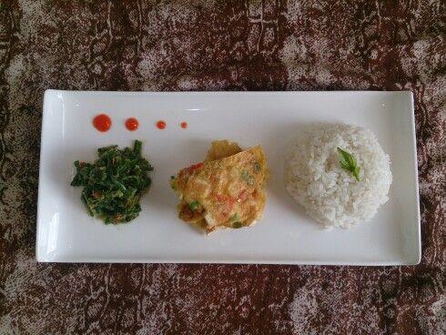 Indonesian platter food