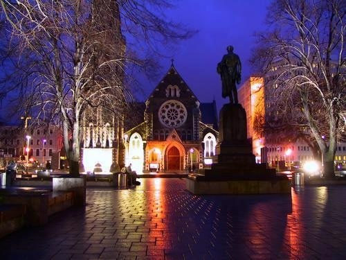 Christchurch Cathedral before the earthquakes of 2011