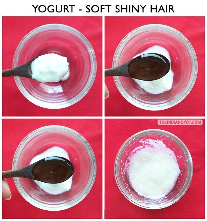 DIY YOGURT MASK FOR SHINY HAIR AND RADIANT SKIN