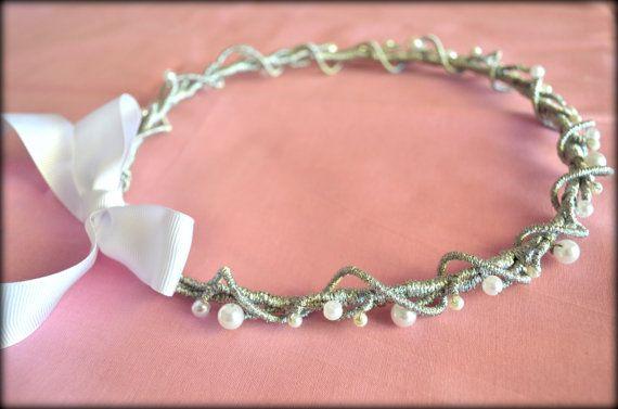 Wedding Headband Bridal Headband Wedding Crown by MarianaHandmade, $56.00