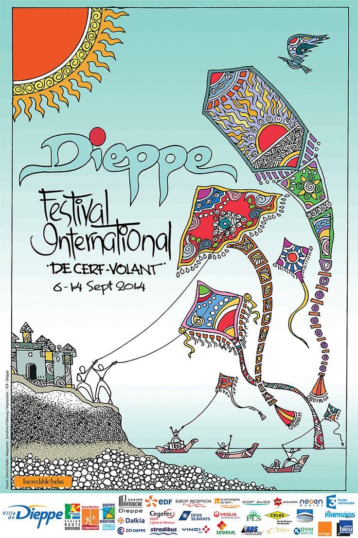 Le Festival International de Cerf-Volant de Dieppe Souvenir Poster