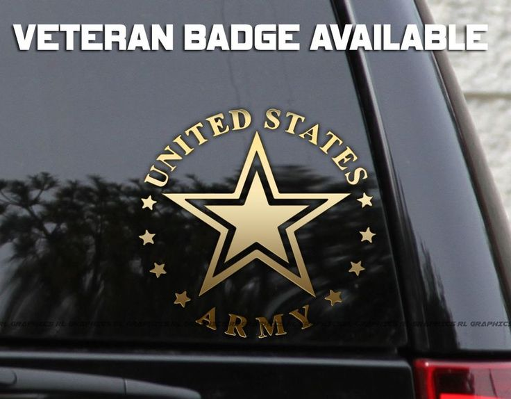 Best Army Decal Images On Pinterest Decals Laptops And Stickers - Military window decals for cars