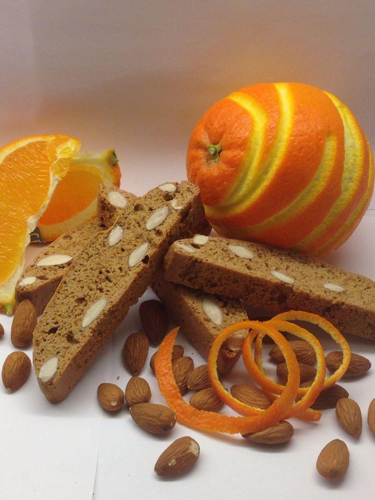 Biscotti med mandel og appelsin
