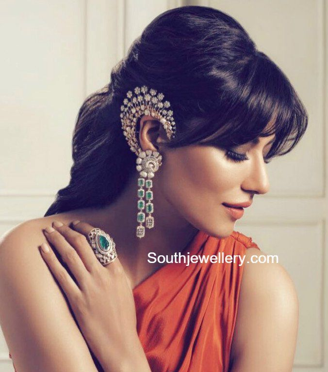 Chitrangda in Diamond Jewellery