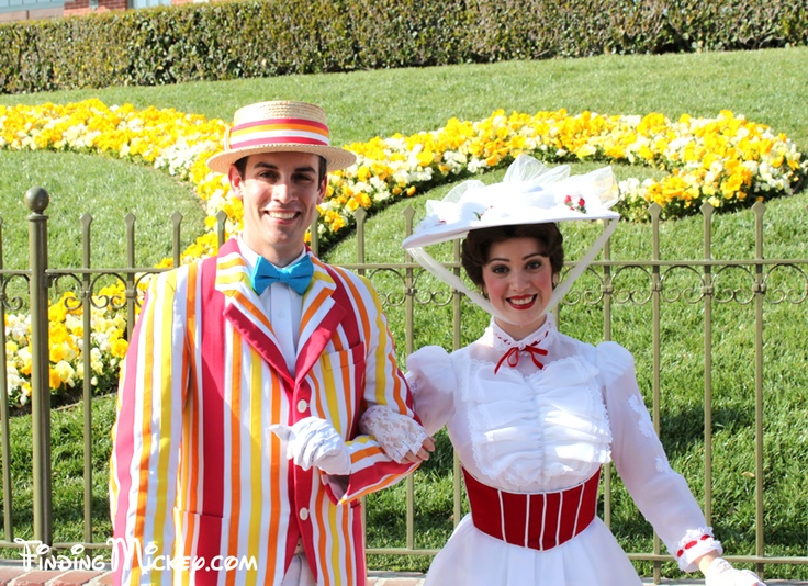 Jolly Holiday Bert & Mary Poppins - Disneyland Resort Costumed Characters - FindingMickey.com