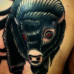 "... buffalo #bison #nillesalvation (på/i Salvation Tattoo) "" More"