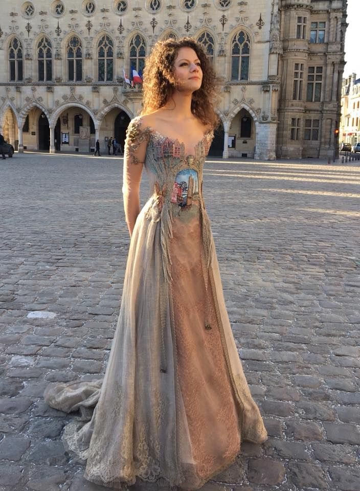 Artist Creates Exquisite Dress Inspired by a French Town - Art People Gallery