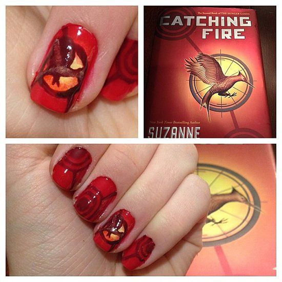 Best 25 fire nails ideas on pinterest hunger games nails peeta 10 catching fire manicures for the ultimate hunger games fan prinsesfo Images
