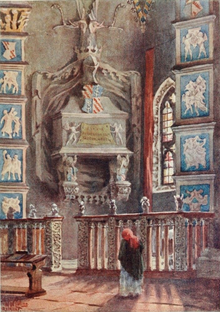 Isotta's Tomb in the Cathedral, Rimini. Watercolour by William Wiehe Collins (1862-1951) http://www.universalcompendium.com/gen_images/ucg/collins%20ww/italian-cities/isottas-tomb-rimini-william-wiehe-collins-watercolour-painting-italy-cities-cathedral.htm
