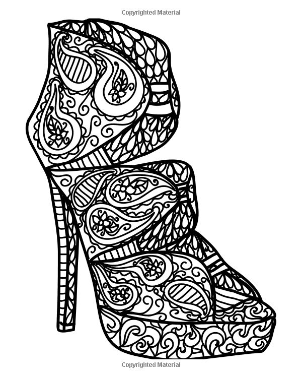 377 Best Adult Colouring Shoes Feets Hands Zentangles