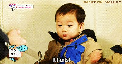 When Minguk accidentally bit appa's finger | The Return of Superman