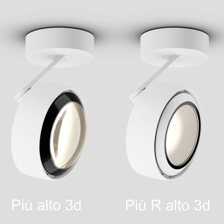 Occhio Più R Alto 3d flat LED Deckenstrahler | schwarz matt