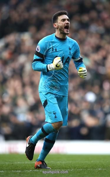 LONDON, ENGLAND - JANUARY 14: Hugo Lloris of Tottenham Hotspur celebrates his sides third goal of the game during the Premier League match between Tottenham Hotspur and West Bromwich Albion at White Hart Lane on January 14, 2017 in London, England