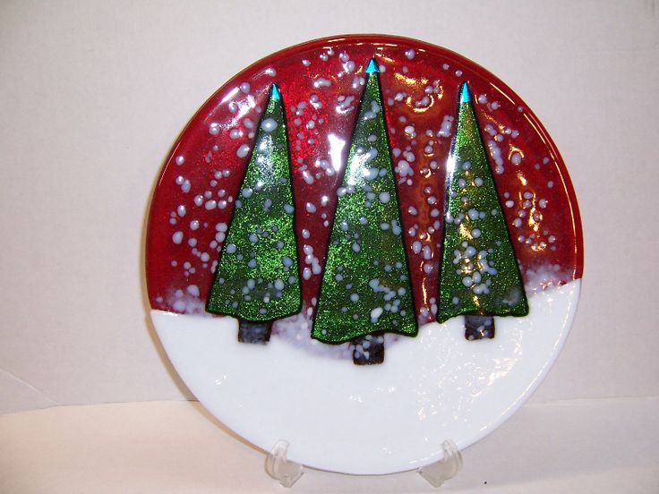 Glass Fusion Ideas | Glass Fusing Ideas | Glass Fusing with Friends Love the simplicity of this plate.