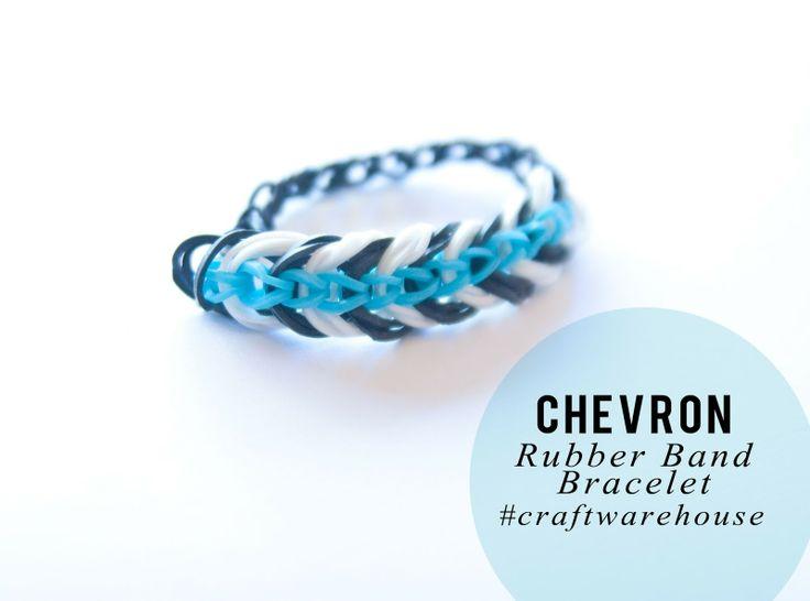 Chevron Rubber Band Bracelet by Jennifer Evans for #CraftWarehouse