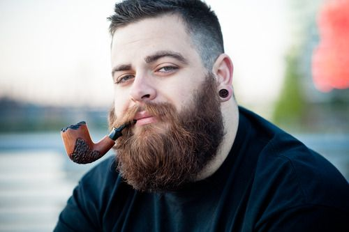 Big Man With A Big Beard And A Big Pipe Thick Full Bushy