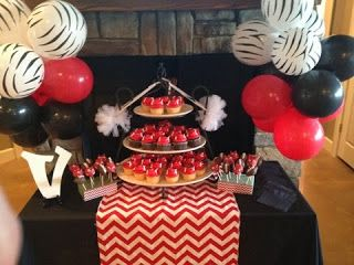 Couples BBQ Tailgating Razorback Baby Shower Cupcakes Cake Pops
