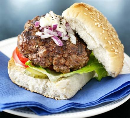 Pork burgers recipe bbc