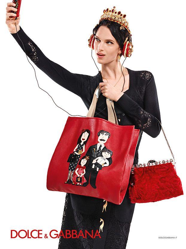 Dolce & Gabbana Women Winter 2016: Advertising Campaign. Look 55.