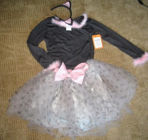 Halloween Costumes Kids: Pottery Barn Kids Gray Kitty Cat Tutu Costume 3Pc Size 7-8 Nwt -> BUY IT NOW ONLY: $49.95 on eBay!