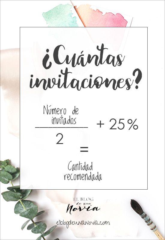 ¿Cuántas invitaciones de boda?