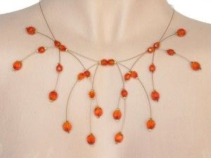 Collier mariage fireopal