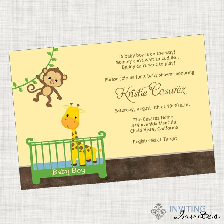 monkey baby shower invitation printable invitation monkey babies