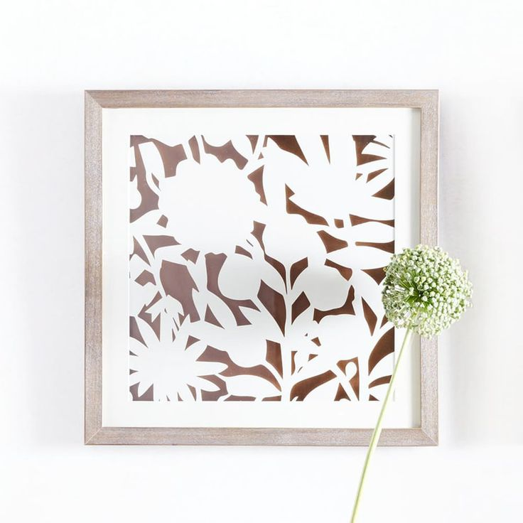 Modern Paper Cut Out Wall Art - Flower